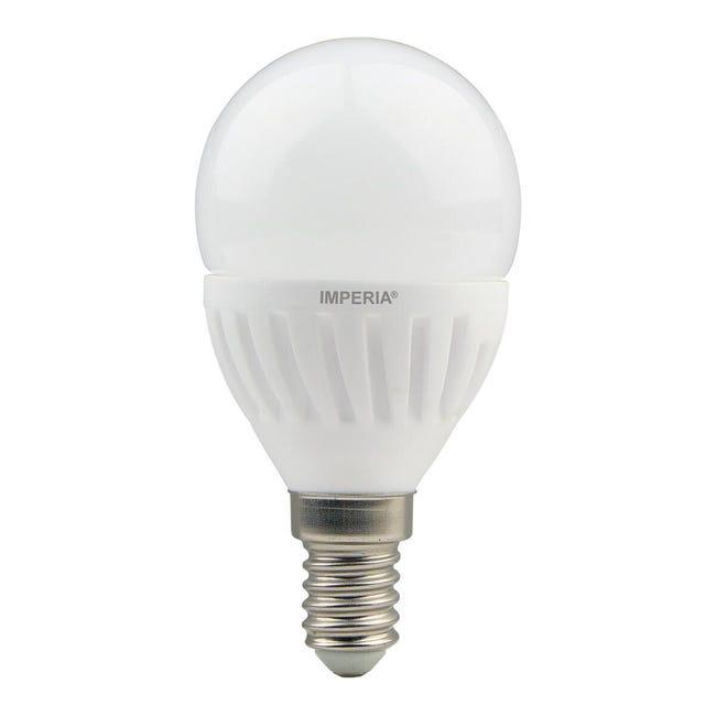 Lampadina LED, E14, Sferico, Opaco, Luce calda, 9W=900LM (equiv 66 W), 200° , IMPERIA - 1