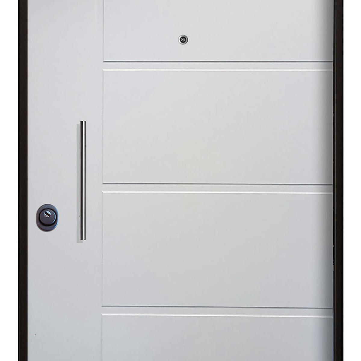 Porta blindata Sweet bianco L 80 x H 210 cm destra - 5