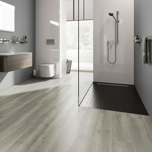 Pavimento laminato H2O Oak Sp 8 mm grigio / argento - 1