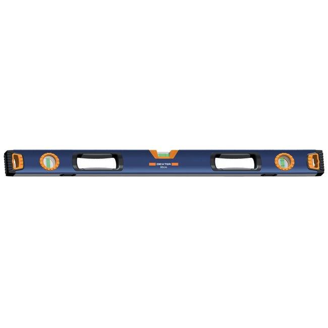 Livella manuale magnetica rettangolare DEXTER 80 cm 3 fiale - 1