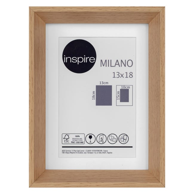 Cornice con passe-partout Inspire milano rovere 13x18 cm - 1