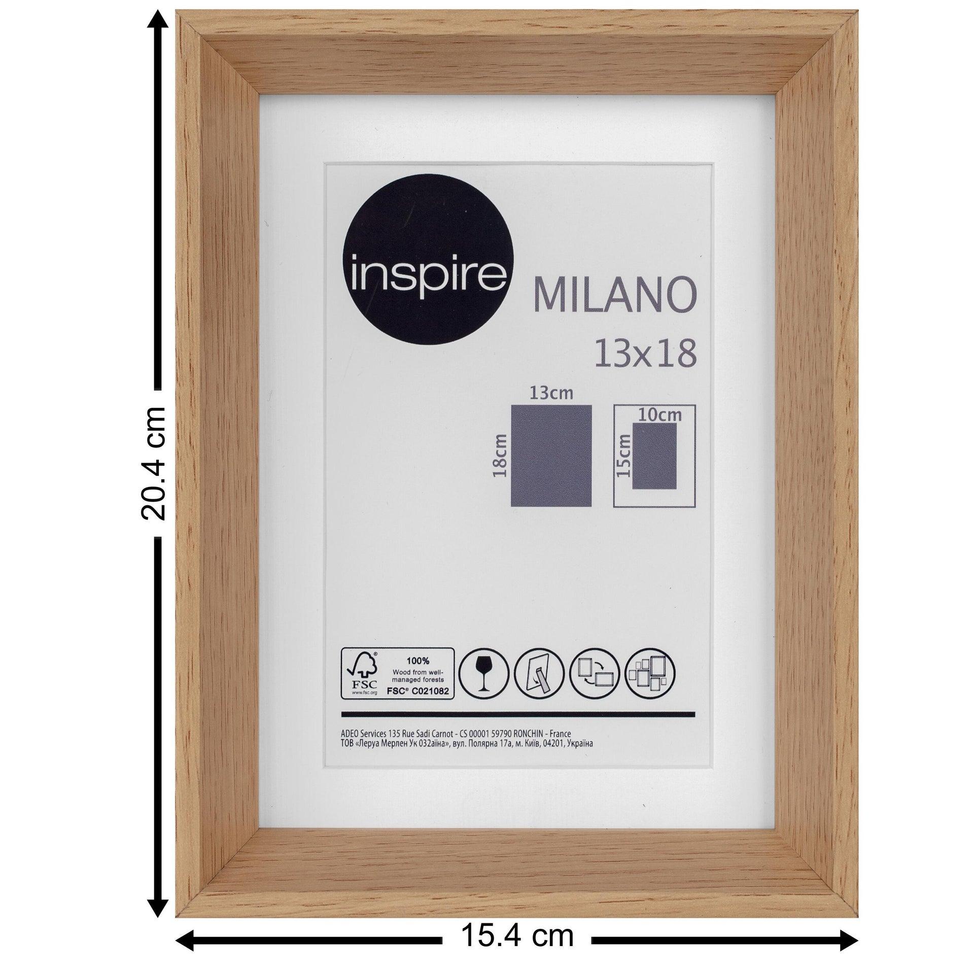 Cornice con passe-partout Inspire milano rovere 13x18 cm - 8