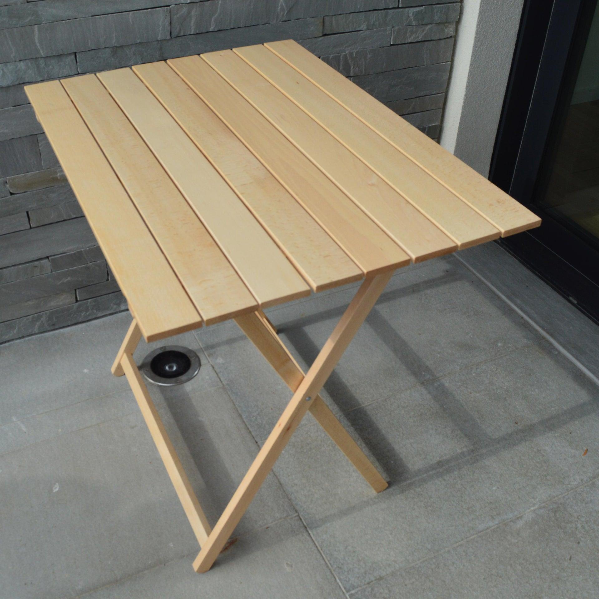 Tavolo da giardino rettangolare pieghevole con piano in legno L 60 x P 80 cm - 3
