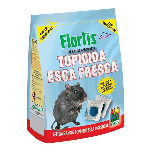 Esca per ratto e topo e talpa FLORTIS Topicida 150 g - 1
