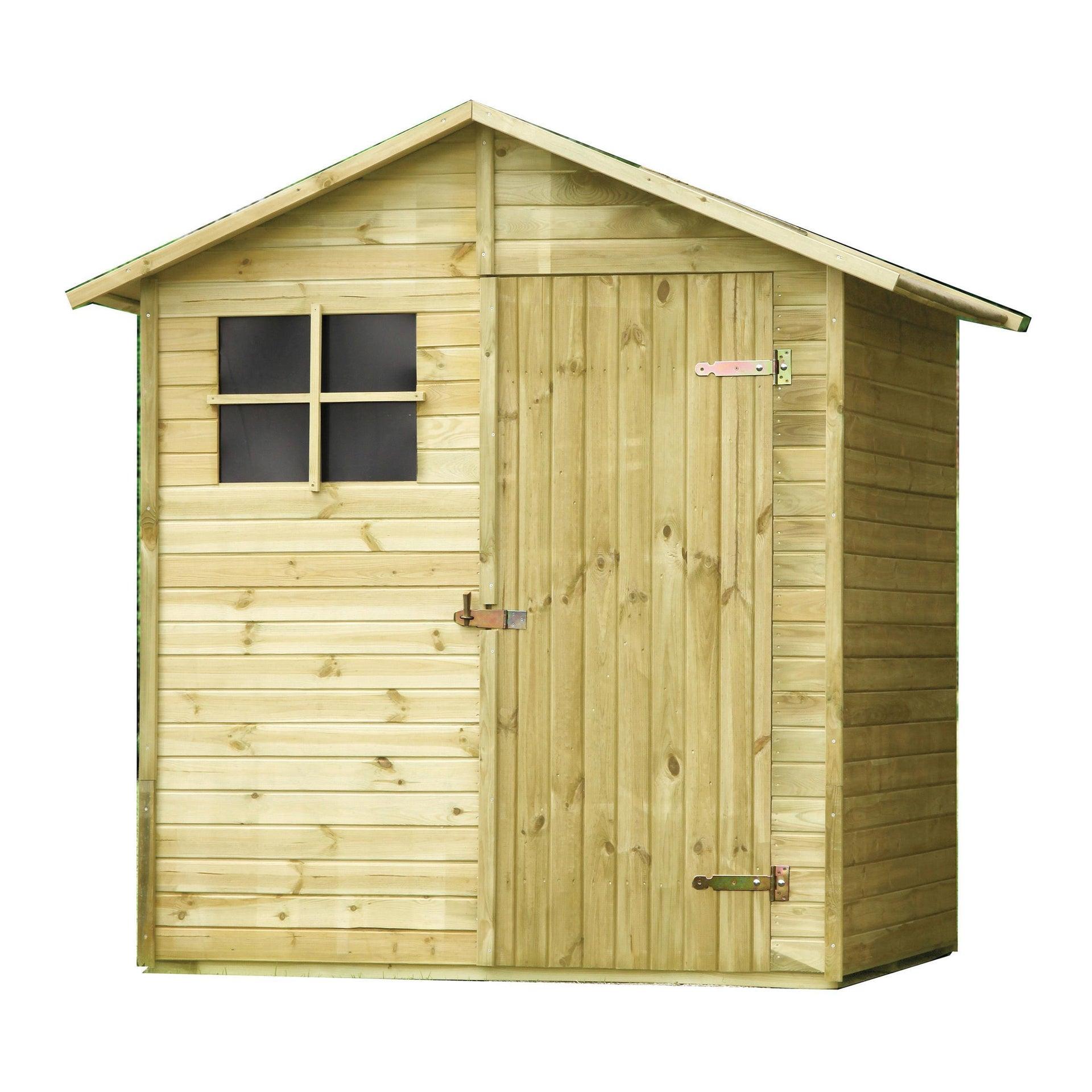 Casetta da giardino in legno Pepper,  superficie interna 1.72 m² e spessore parete 14 mm