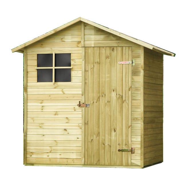 Casetta da giardino in legno Pepper, superficie interna 1.72 m² e spessore parete 14 mm - 1
