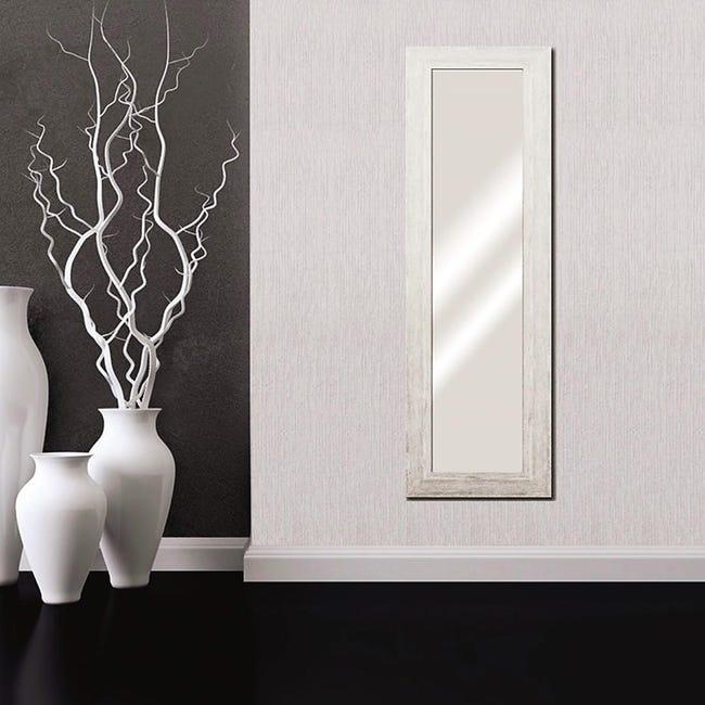 Specchio A Parete Rettangolare Liders Bianco 41x136 Cm Leroy Merlin
