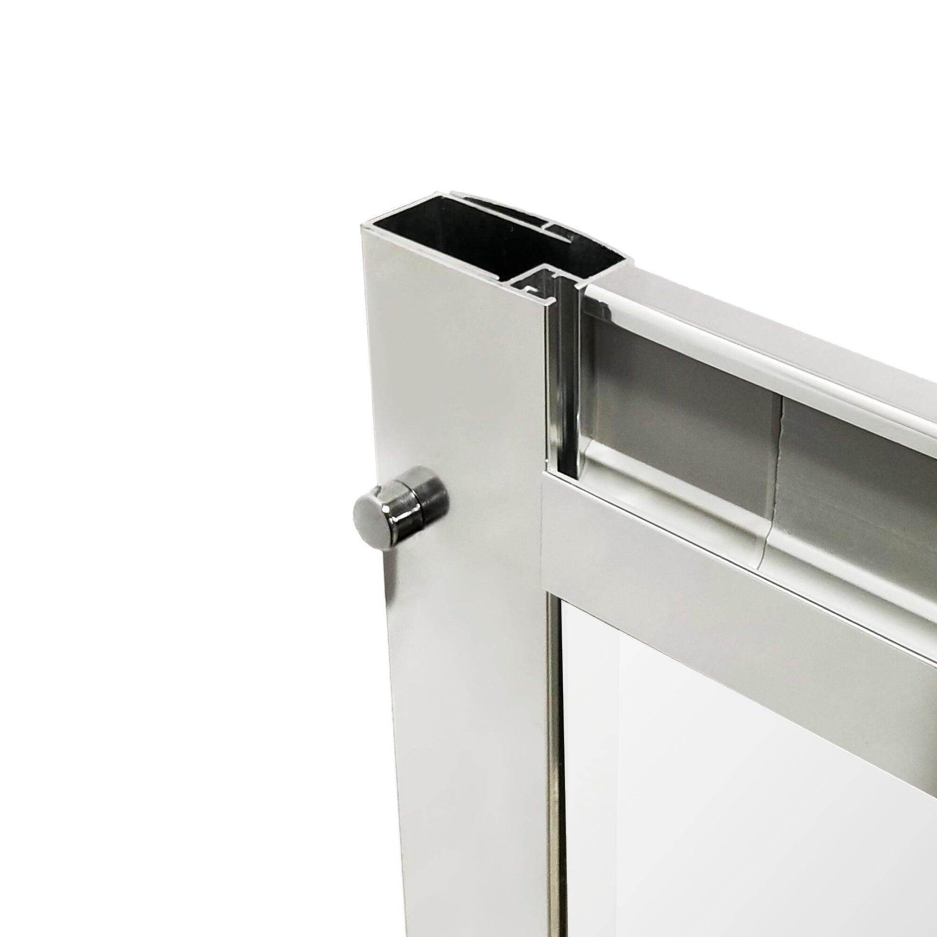 Box doccia rettangolare scorrevole Essential 70 x 100 cm, H 185 cm in vetro temprato, spessore 4 mm trasparente cromato - 8