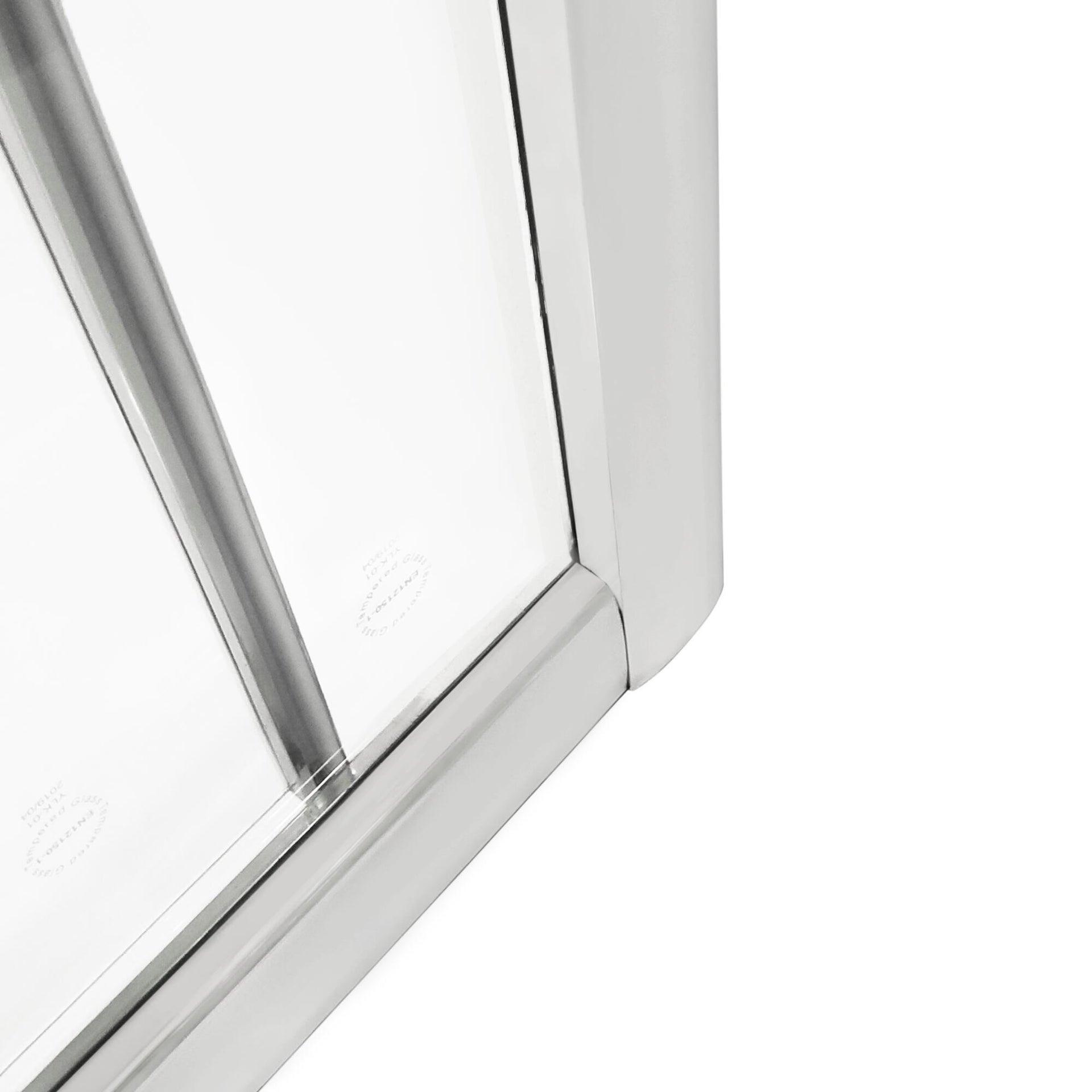 Box doccia rettangolare scorrevole Essential 70 x 100 cm, H 185 cm in vetro temprato, spessore 4 mm trasparente cromato - 6