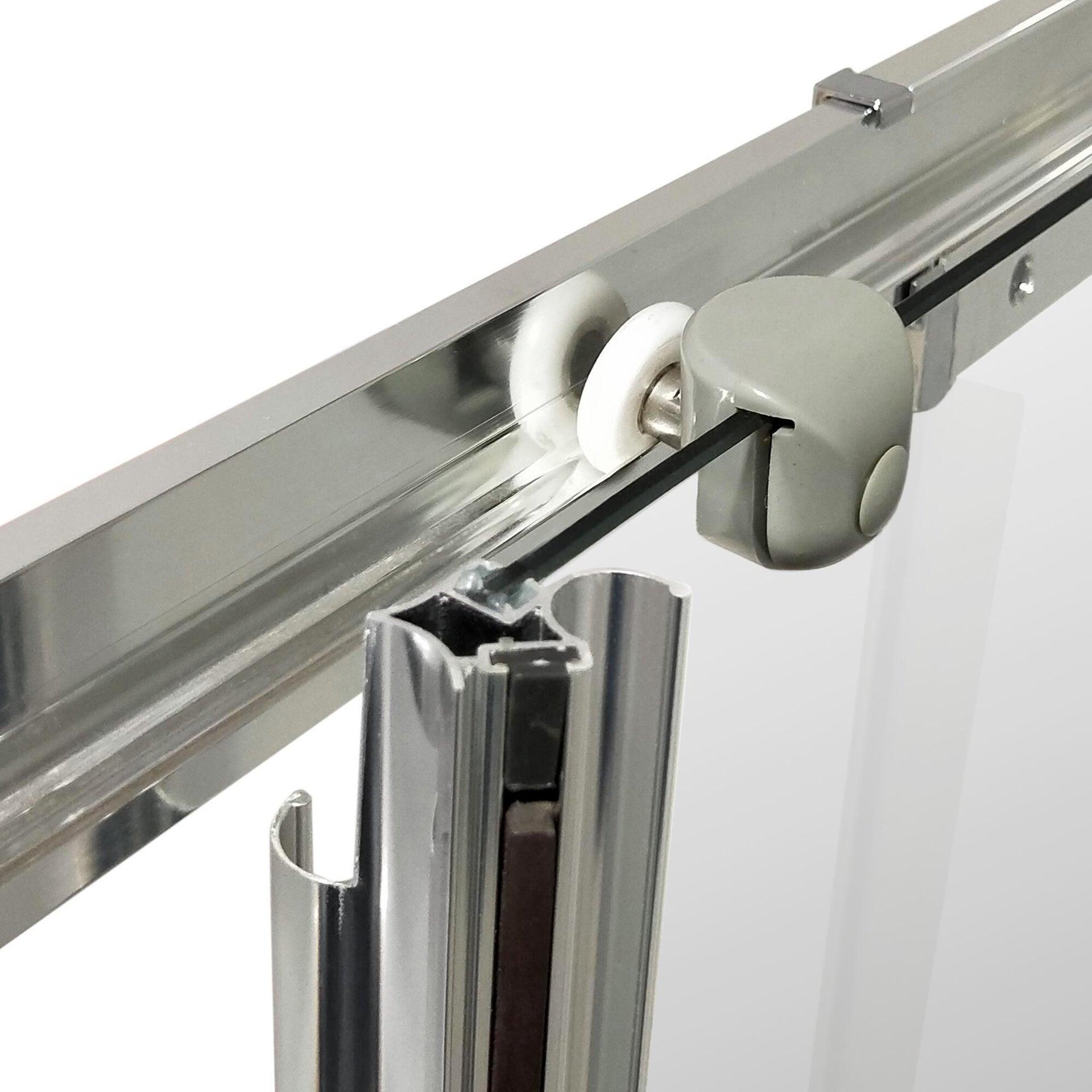 Box doccia rettangolare scorrevole Essential 70 x 100 cm, H 185 cm in vetro temprato, spessore 4 mm trasparente cromato - 2