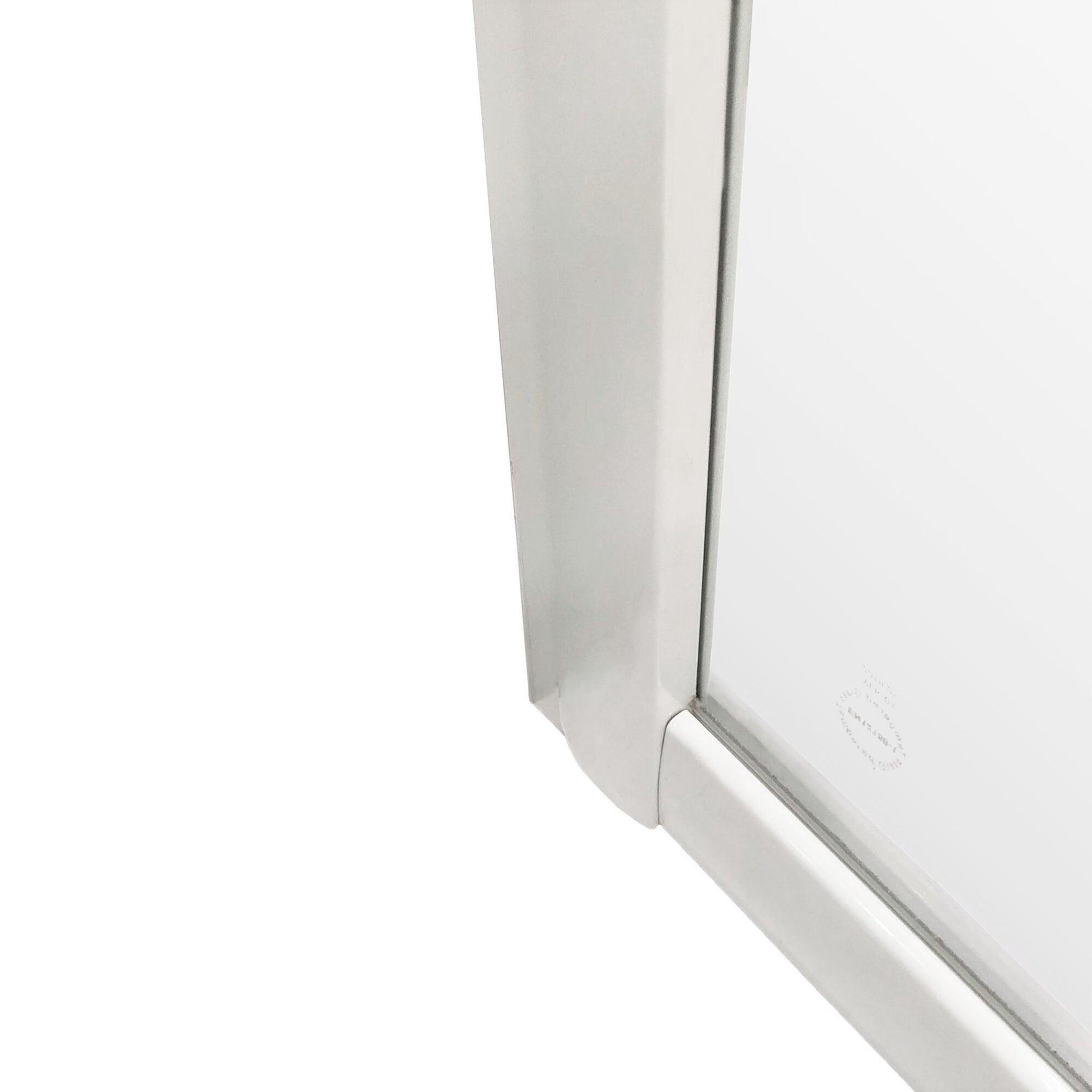 Box doccia semicircolare scorrevole Essential 90 x 90 cm, H 185 cm in vetro temprato, spessore 4 mm serigrafato bianco - 2