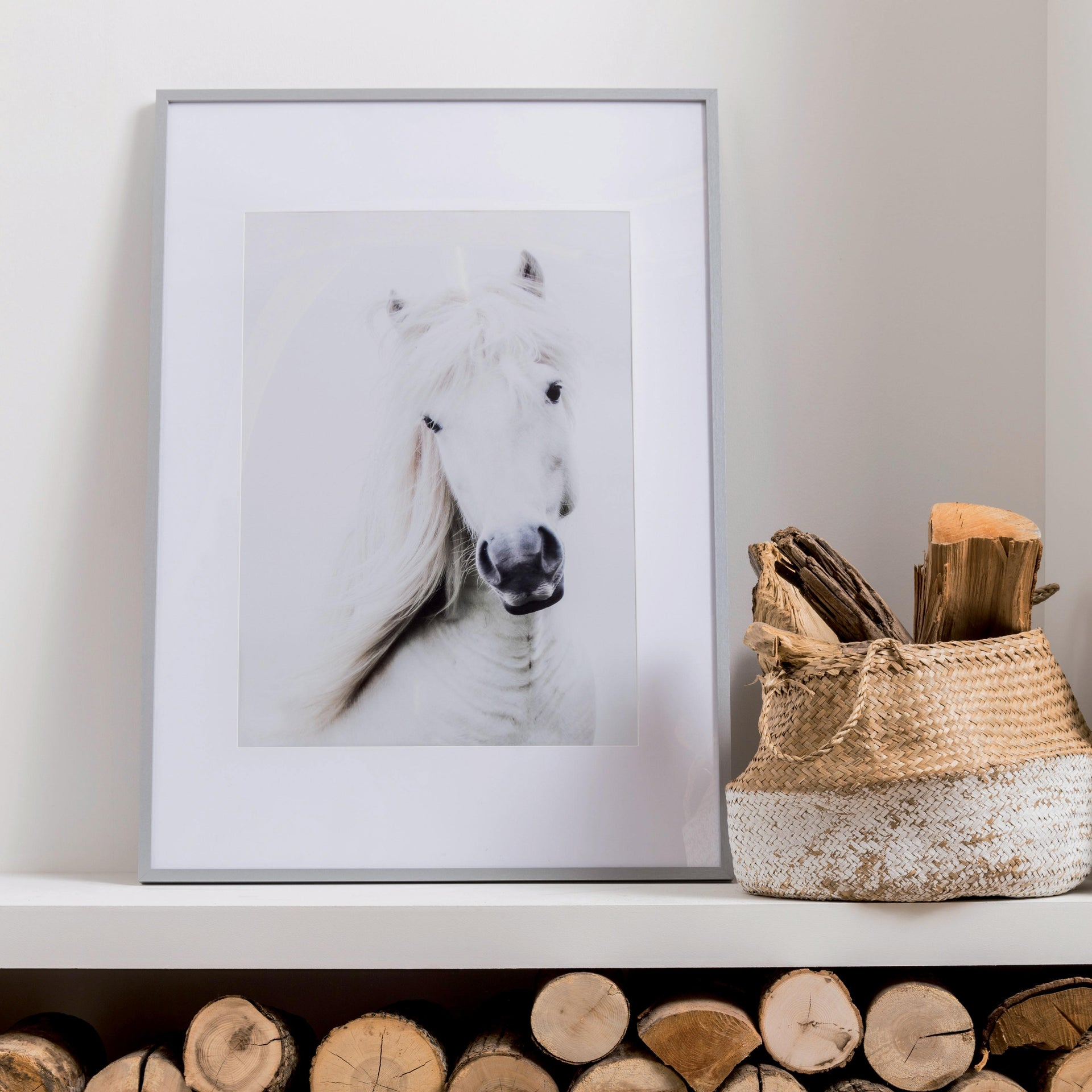 Cornice con passe-partout Inspire milo argento 40x50 cm - 2