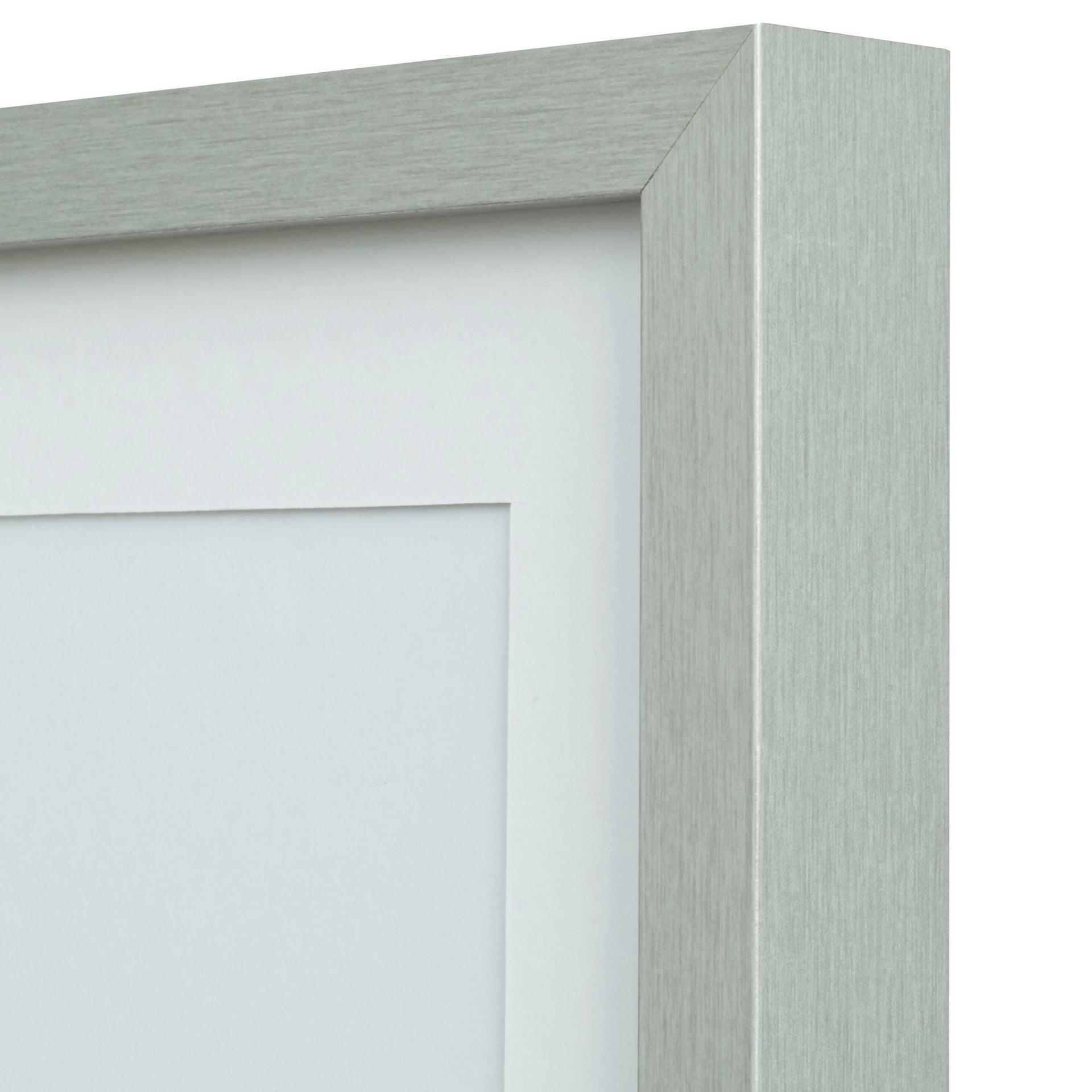 Cornice con passe-partout Inspire milo argento 40x50 cm - 1