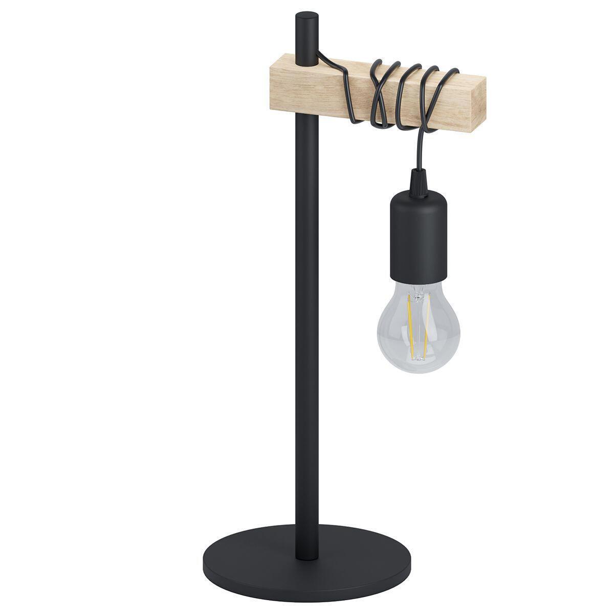 Lampada da tavolo Scandinavo Townshend nero , in metallo, EGLO - 7