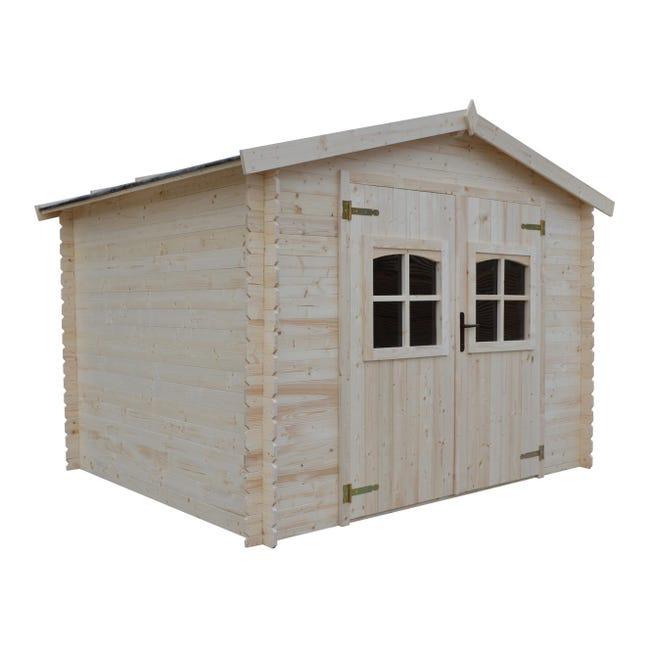 Casetta da giardino in legno Elista, superficie interna 6.66 m² e spessore parete 19 mm - 1