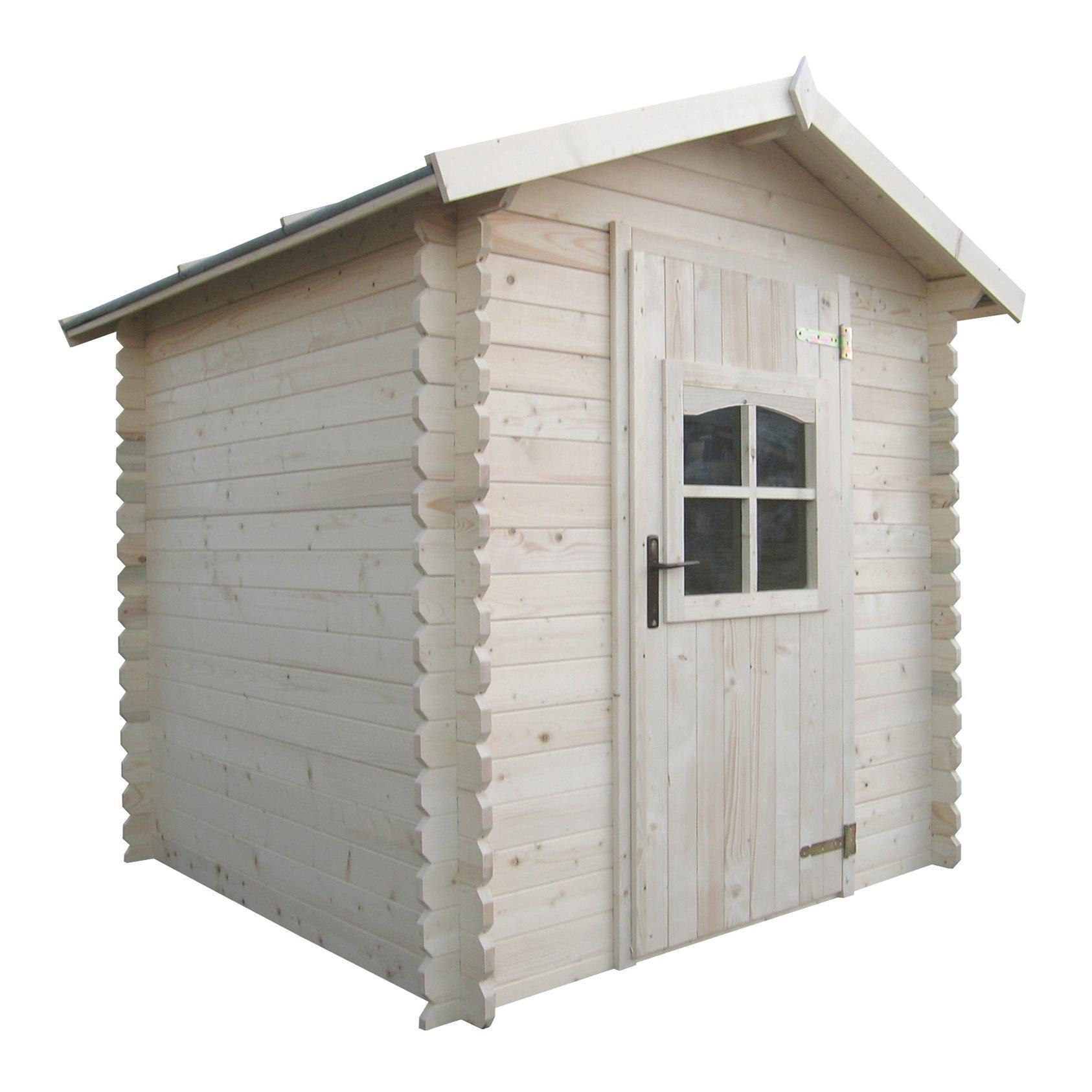 Casetta da giardino in legno Almaty, superficie interna 3.04 m² e spessore parete 28 mm - 1
