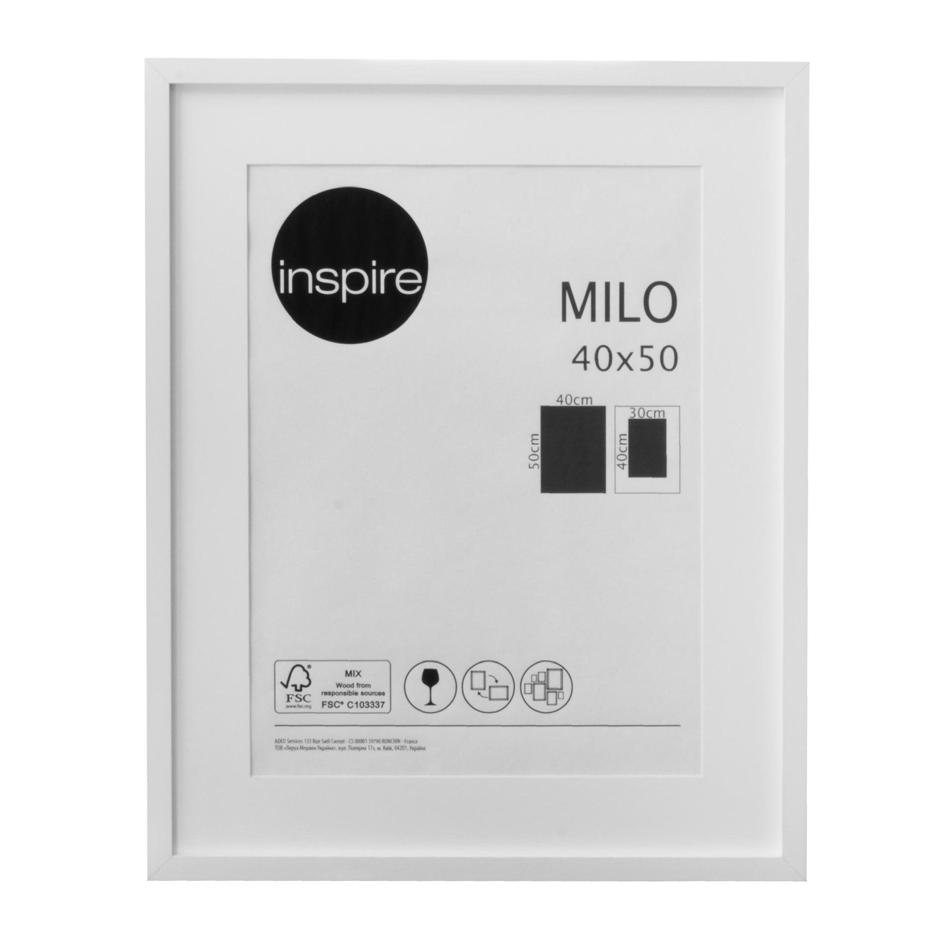Cornice con passe-partout Inspire milo bianco 40x50 cm - 3