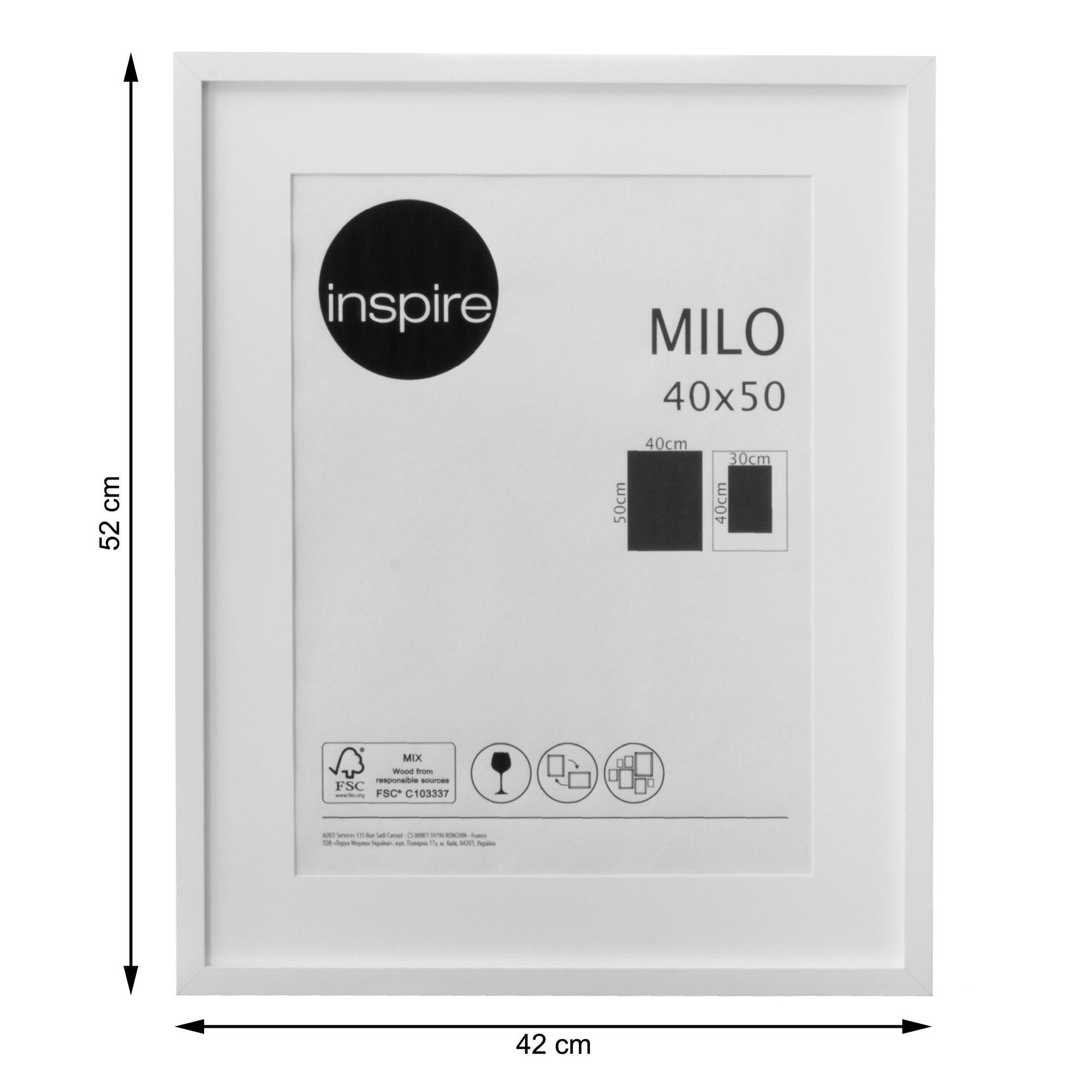 Cornice con passe-partout Inspire milo bianco 40x50 cm - 4