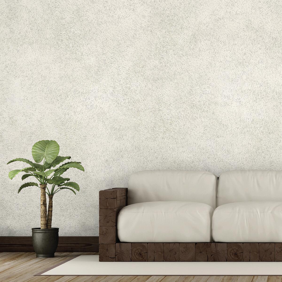 Pittura decorativa GECKOS Sabbia 4 l bianco argento sabbiato - 1