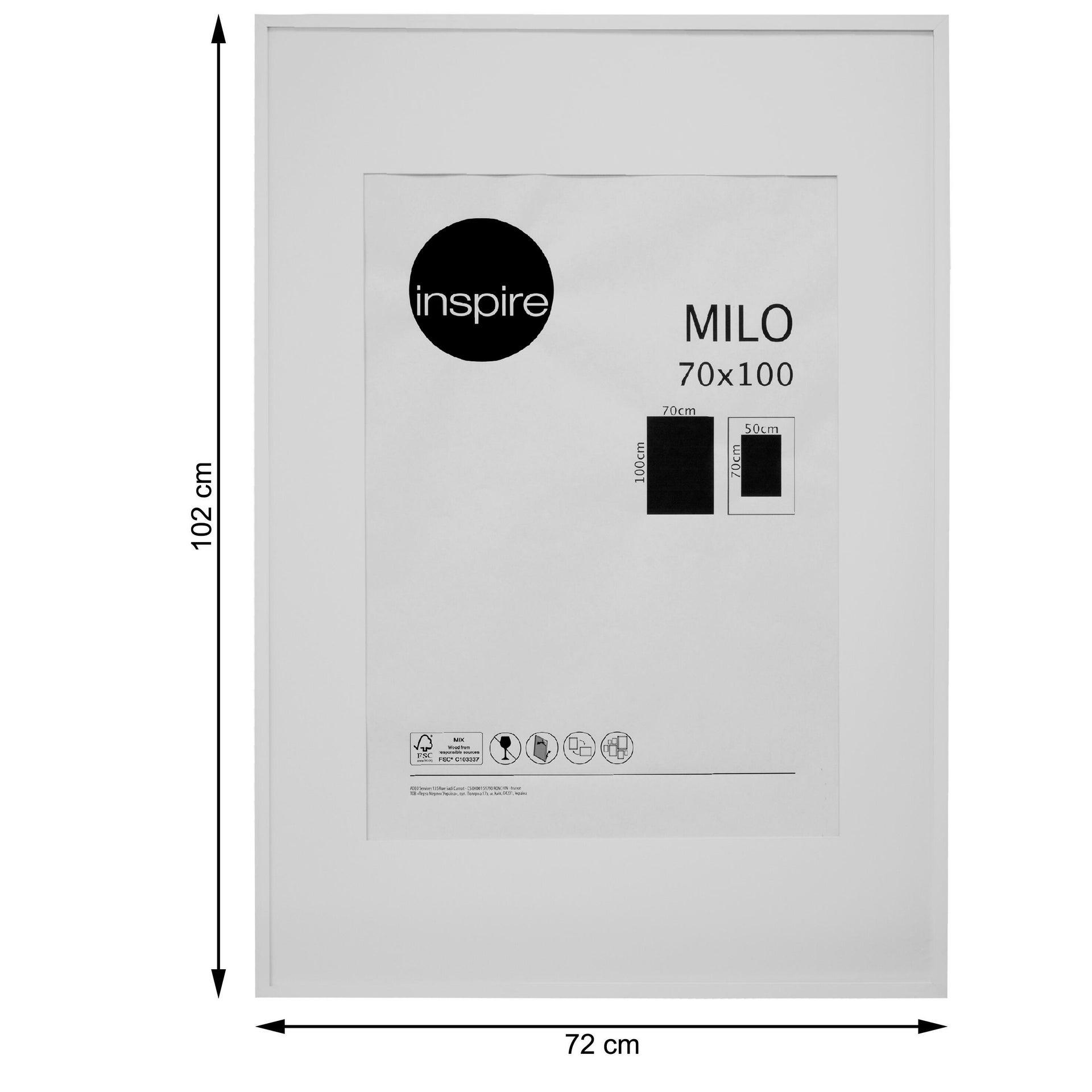 Cornice con passe-partout Inspire milo bianco 70x100 cm - 4