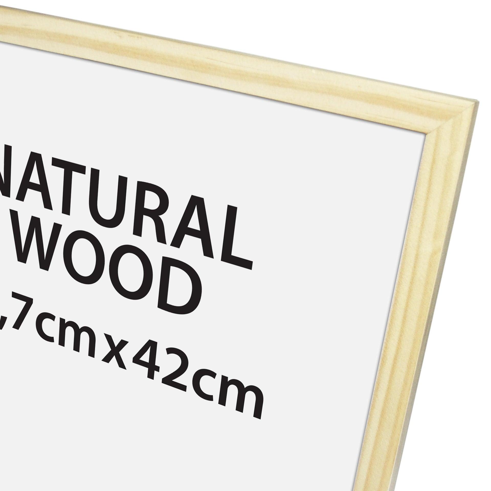Cornice Natural wood naturale per foto da 29.7x42 cm - 2
