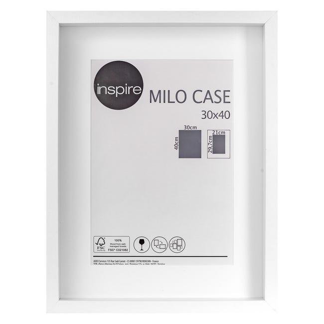 Cornice con passe-partout Inspire milo bianco 30x40 cm - 1