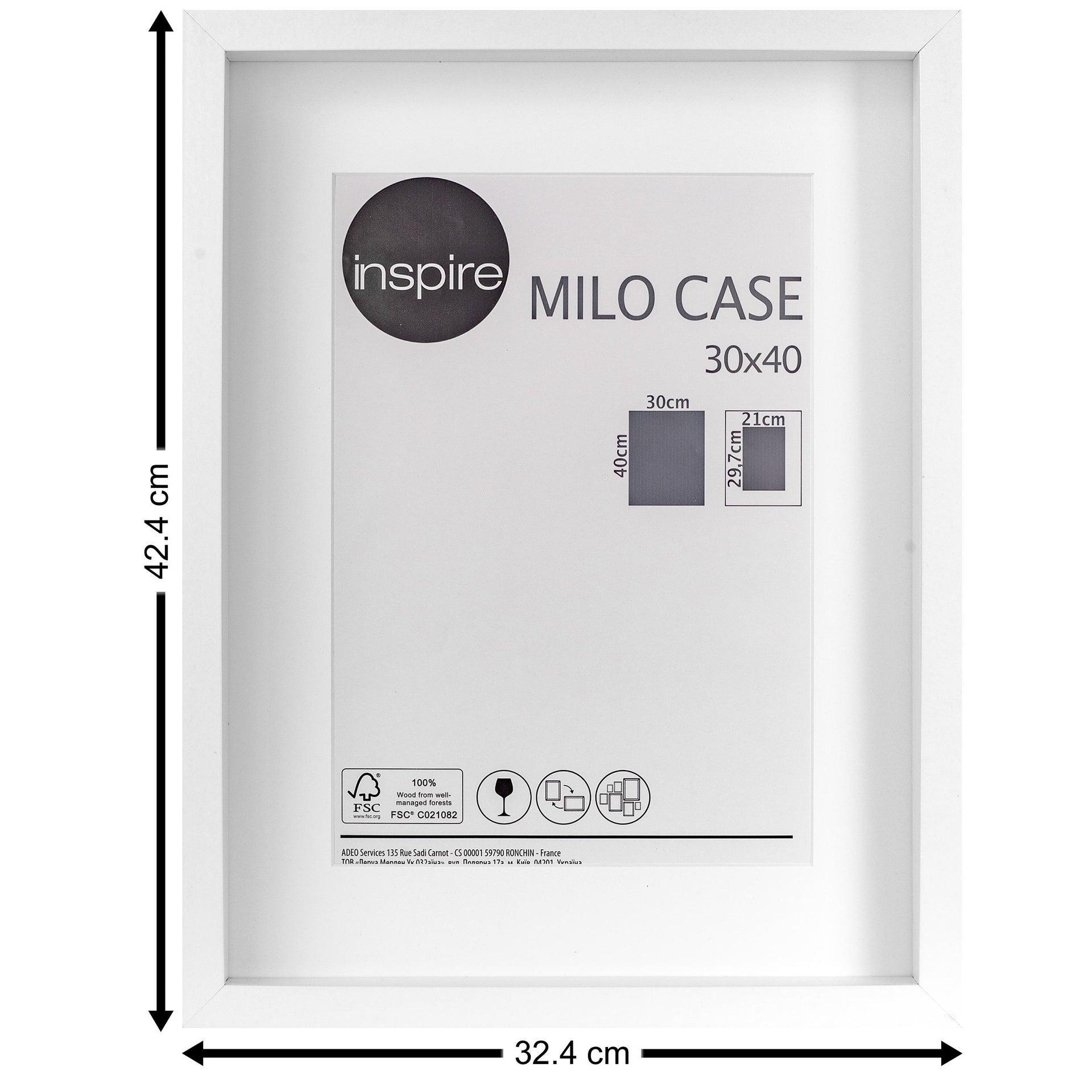 Cornice con passe-partout Inspire milo bianco 30x40 cm - 7