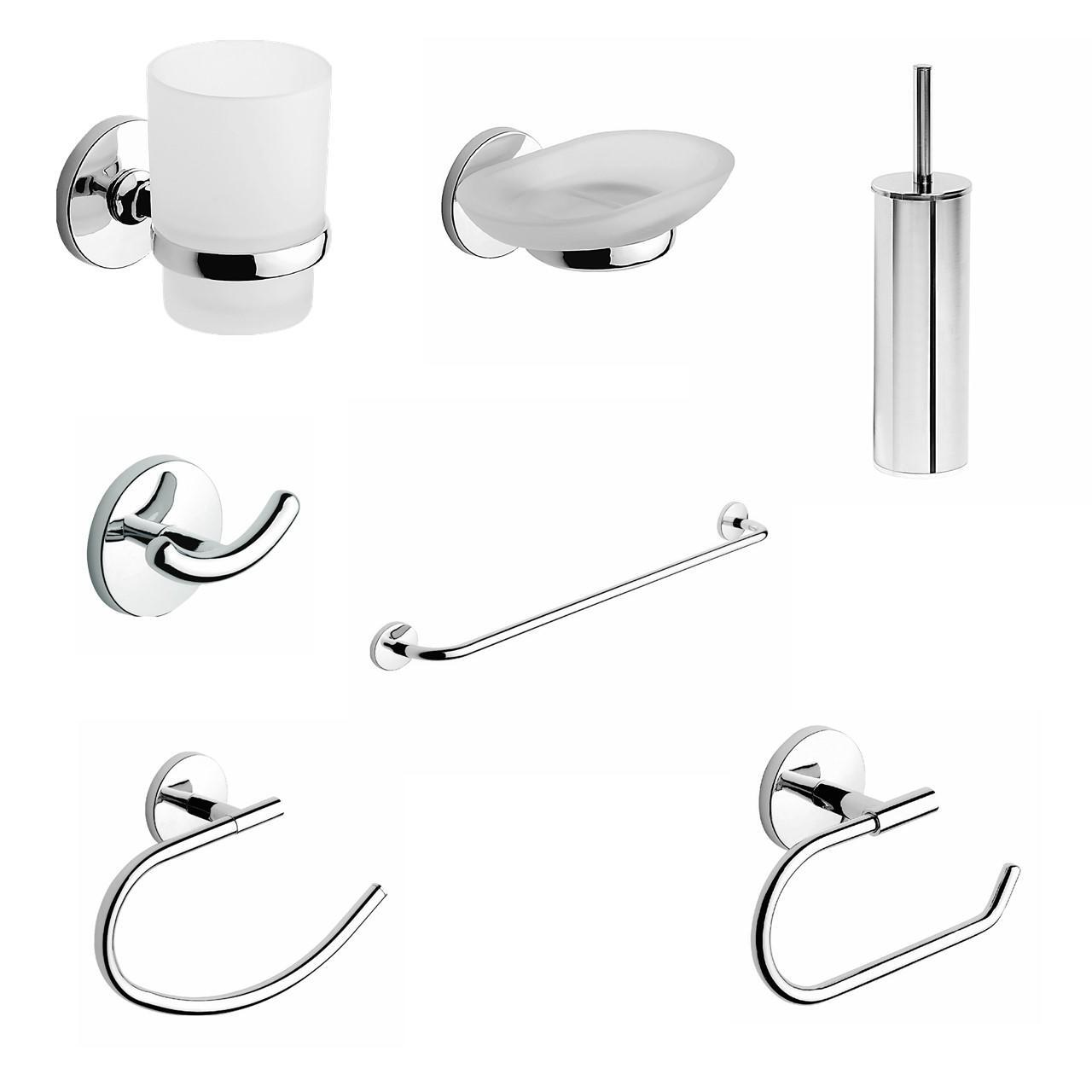 Set accessori di fissaggio grigio / argento cromato in acciaio - 1