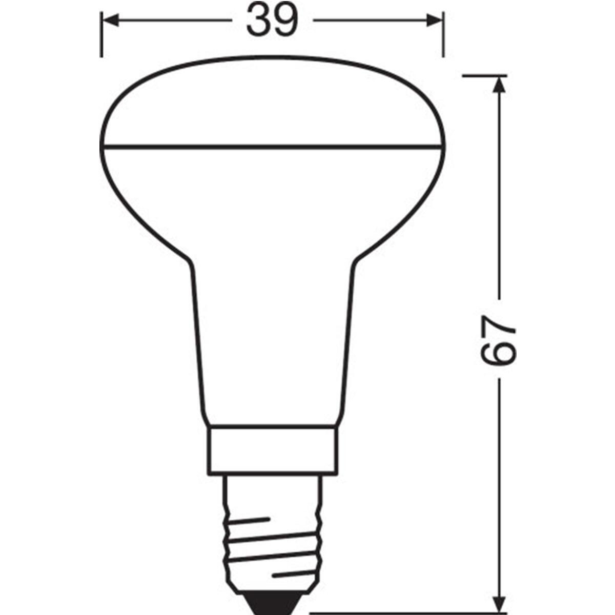 Lampadina LED, E14, Faretto, Trasparente, Luce calda, 1.5W=110LM (equiv 25 W), 36° , OSRAM - 3
