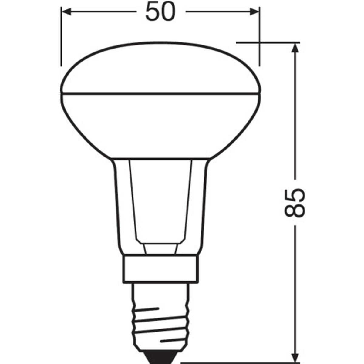 Lampadina LED, E14, Faretto, Trasparente, Luce naturale, 2.6W=210LM (equiv 40 W), 36° , OSRAM - 9