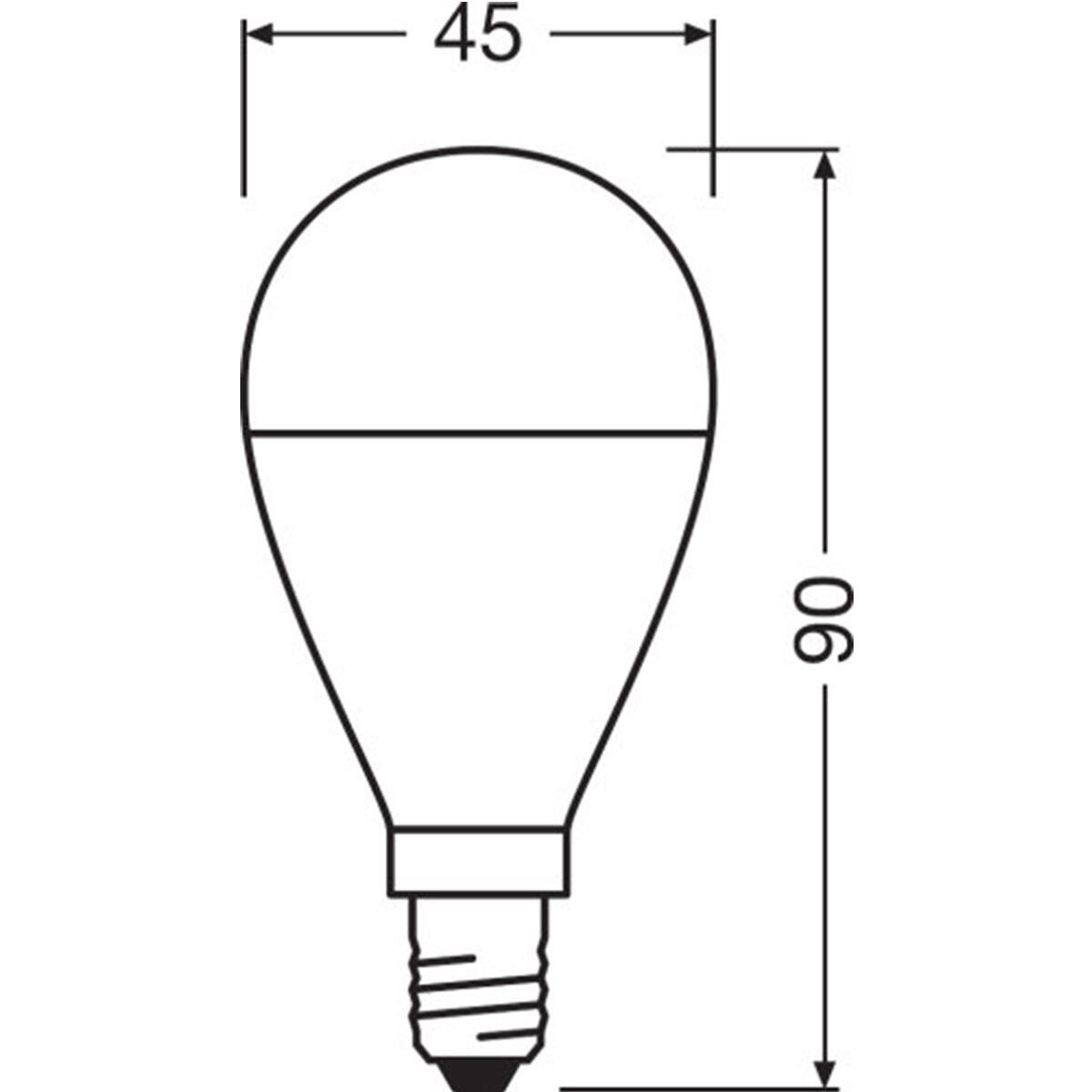 Lampadina LED, E14, Sferico, Opaco, Luce calda, 8W=806LM (equiv 60 W), 150° , OSRAM - 3