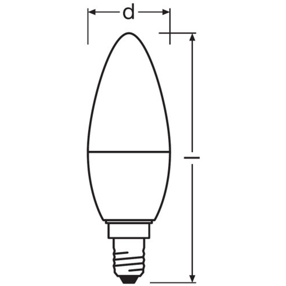 Lampadina LED, E14, Oliva, Opaco, Luce calda, 3W=250LM (equiv 25 W), 220° , OSRAM - 3