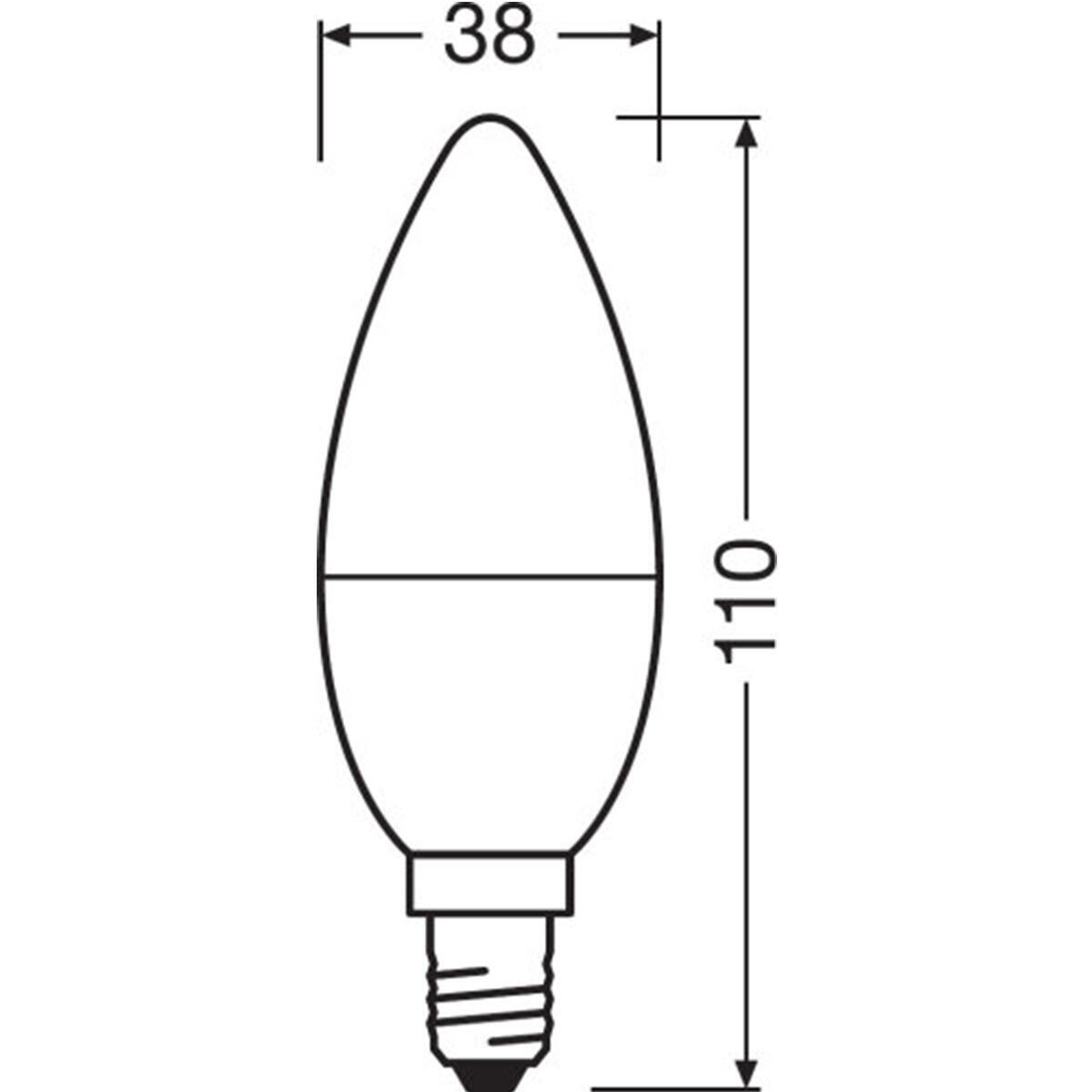 Lampadina LED, E14, Oliva, Opaco, Luce calda, 8W=806LM (equiv 60 W), 200° , OSRAM - 6