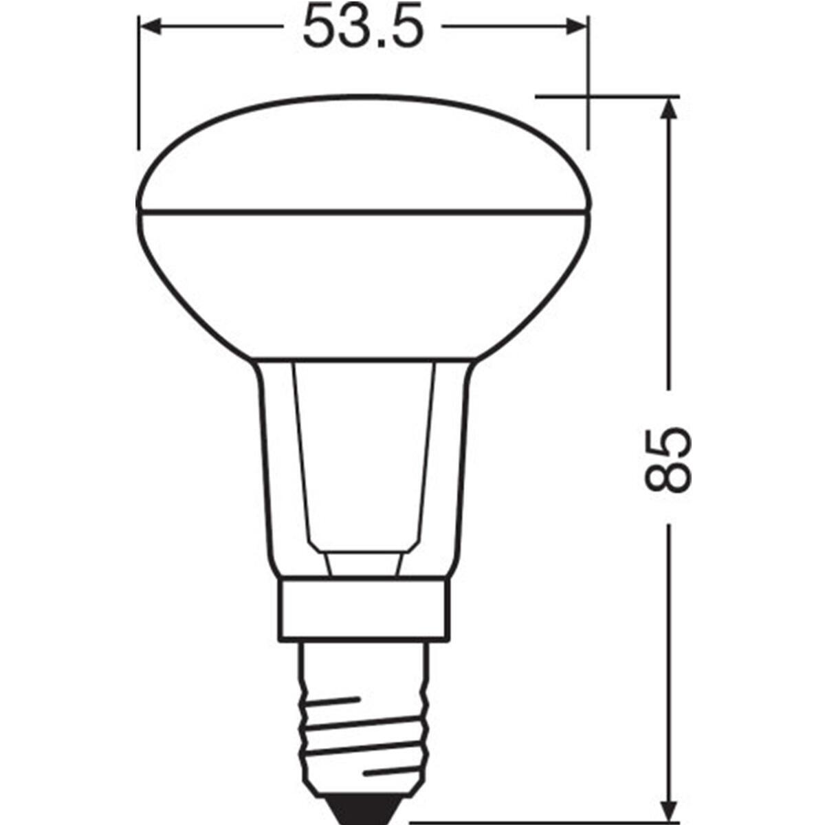 Lampadina LED, E14, Faretto, Trasparente, Luce calda, 5.9W=345LM (equiv 60 W), 36° , OSRAM - 3