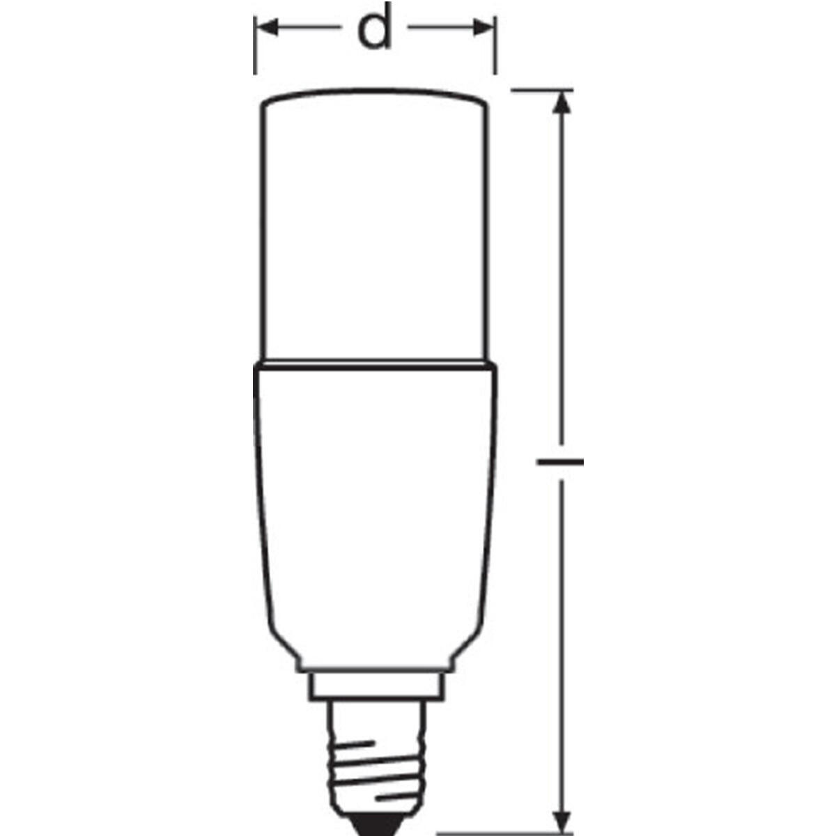 Lampadina LED, E14, Bulbo, Opaco, Luce calda, 8W=806LM (equiv 60 W), 200° , OSRAM - 4