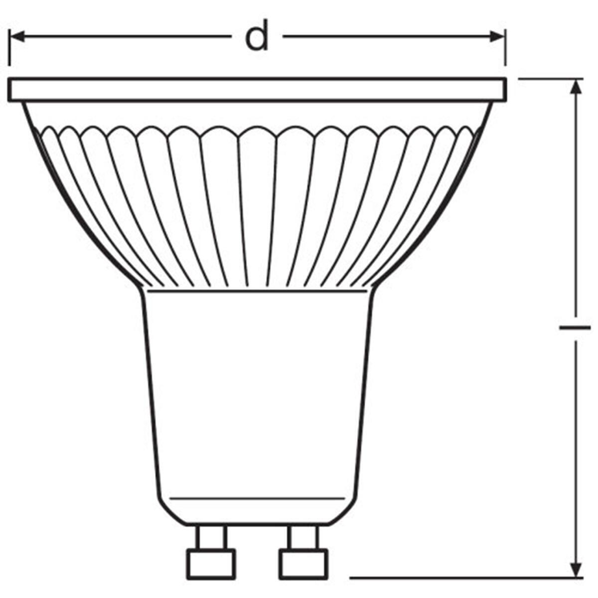 Lampadina LED, GU10, Faretto, Trasparente, Luce calda, 4.3W=350LM (equiv 50 W), 36° , OSRAM - 5