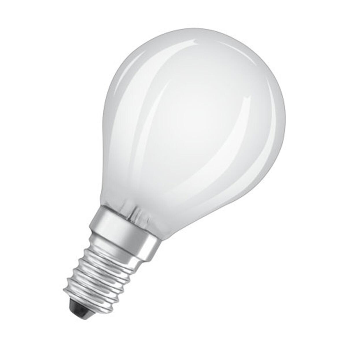 Lampadina LED filamento, E14, Sferico, Opaco, Luce calda, 4W=470LM (equiv 40 W), 300° , OSRAM - 4