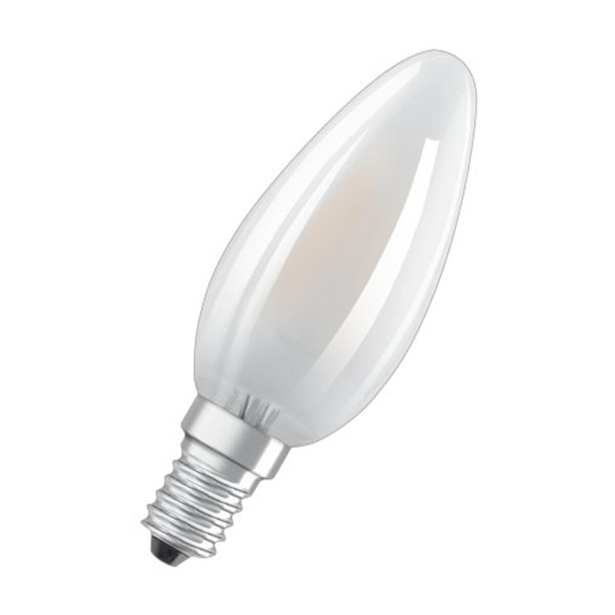 Lampadina LED filamento, E14, Oliva, Opaco, Luce naturale, 4W=470LM (equiv 40 W), 300° , OSRAM - 3