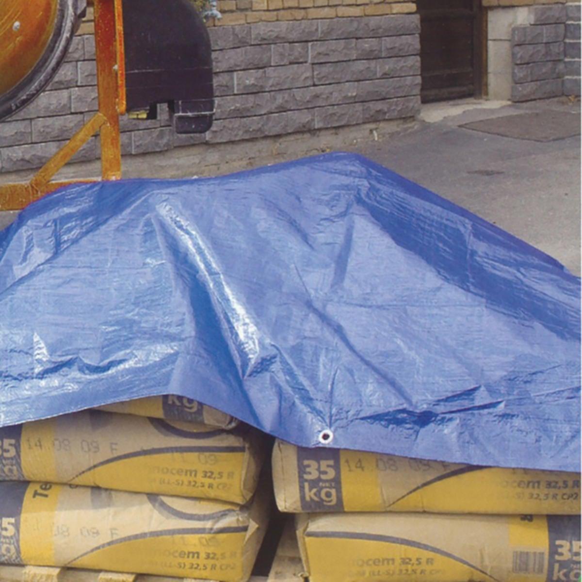 Telo protettivo in polietilene occhiellato L 2 m x H 300 cm 140 g/m² - 2