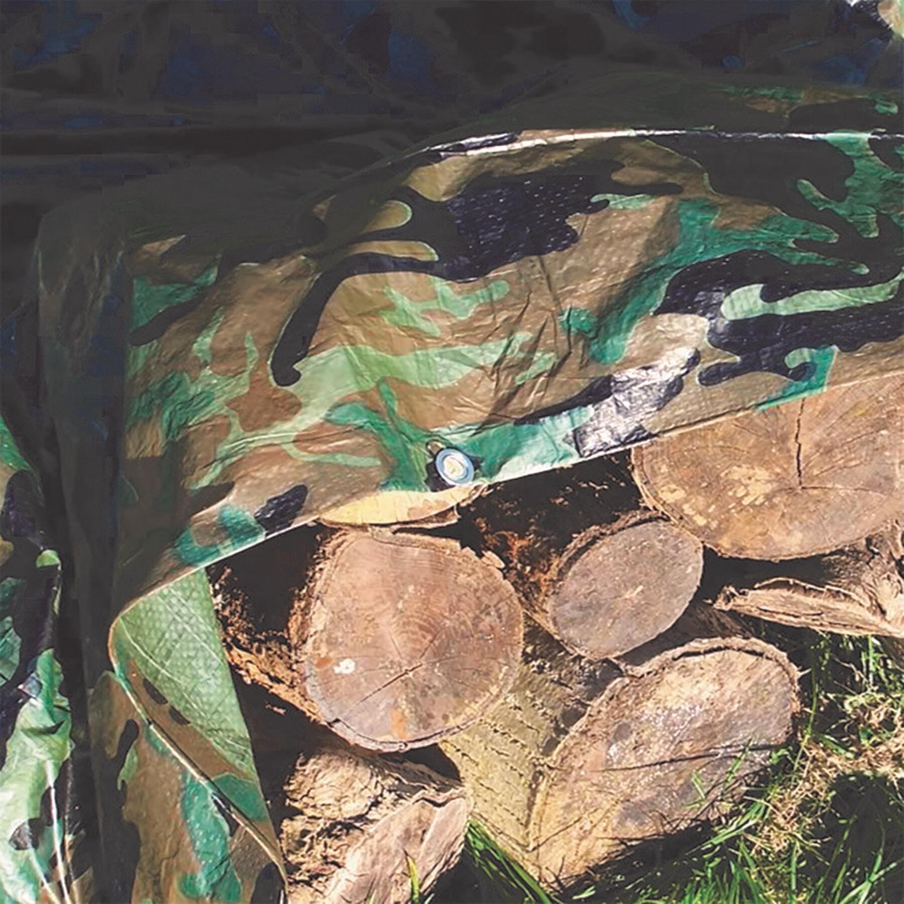 Telo protettivo in polietilene occhiellato L 3 m x H 400 cm 90 g/m² - 4
