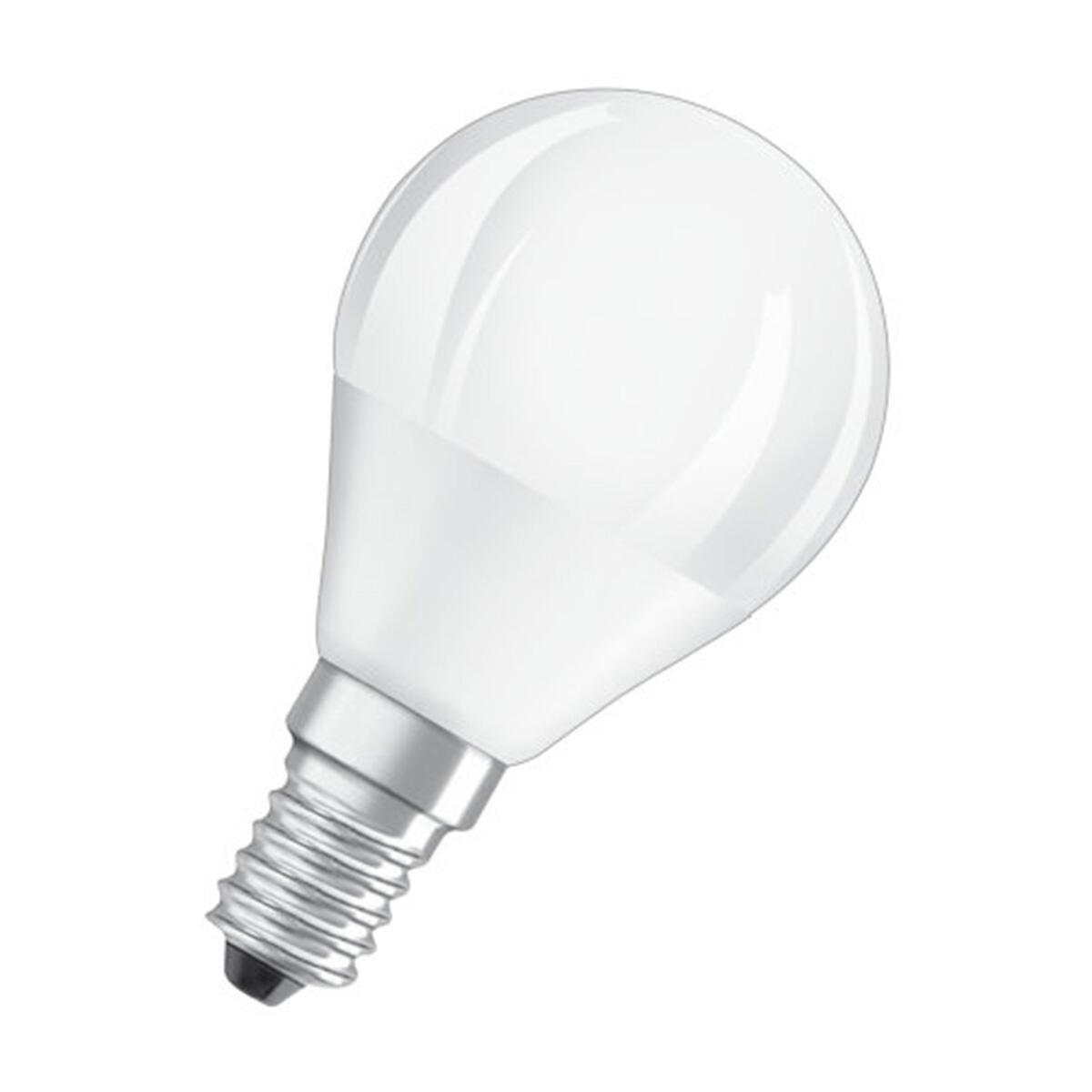 Lampadina LED, E14, Sferico, Opaco, Luce calda, 5W=470LM (equiv 40 W), 360° , OSRAM - 8