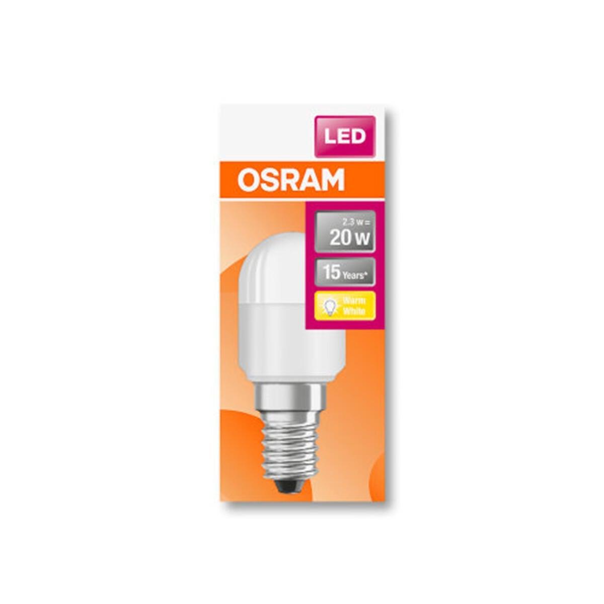 Lampadina LED, E14, Bulbo, Opaco, Luce calda, 2.3W=200LM (equiv 20 W), 160° , OSRAM - 7
