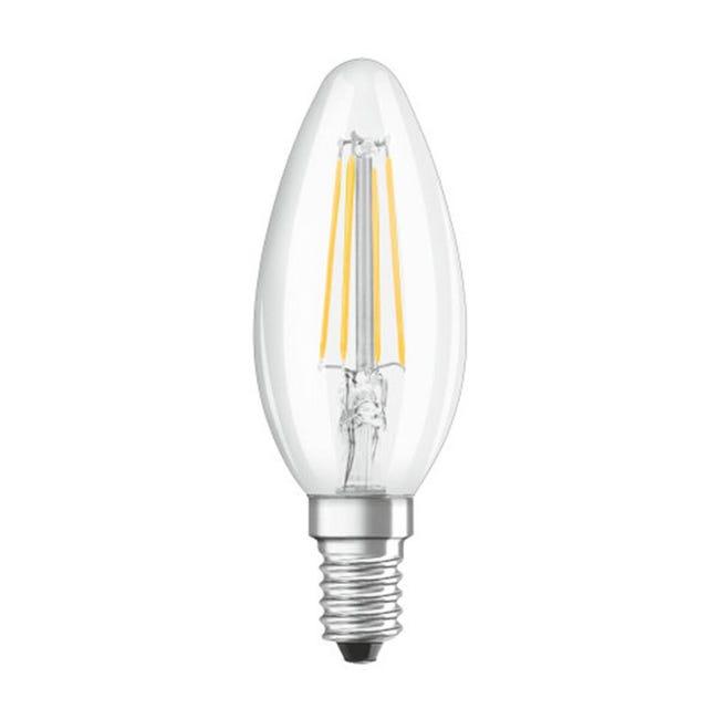 Lampadina LED, E14, Oliva, Trasparente, CCT, 4W=470LM (equiv 40 W), 300° , OSRAM - 1