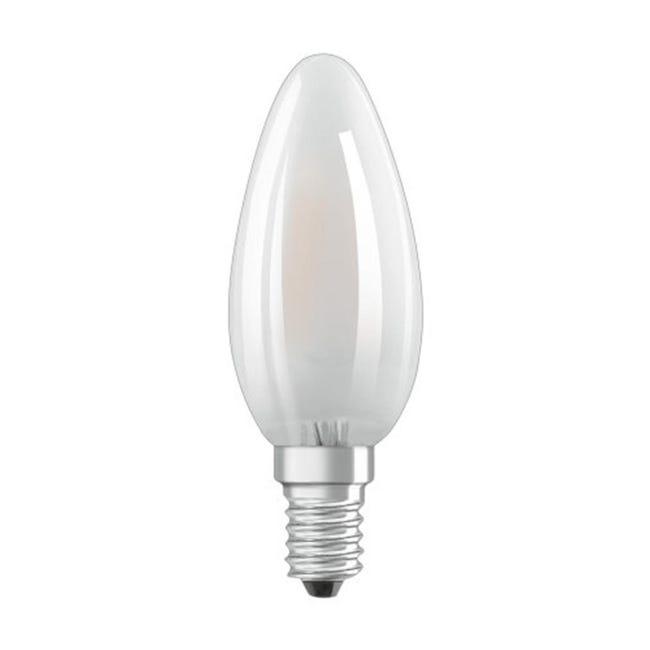 Lampadina LED filamento, E14, Oliva, Opaco, Luce naturale, 4W=470LM (equiv 40 W), 300° , OSRAM - 1