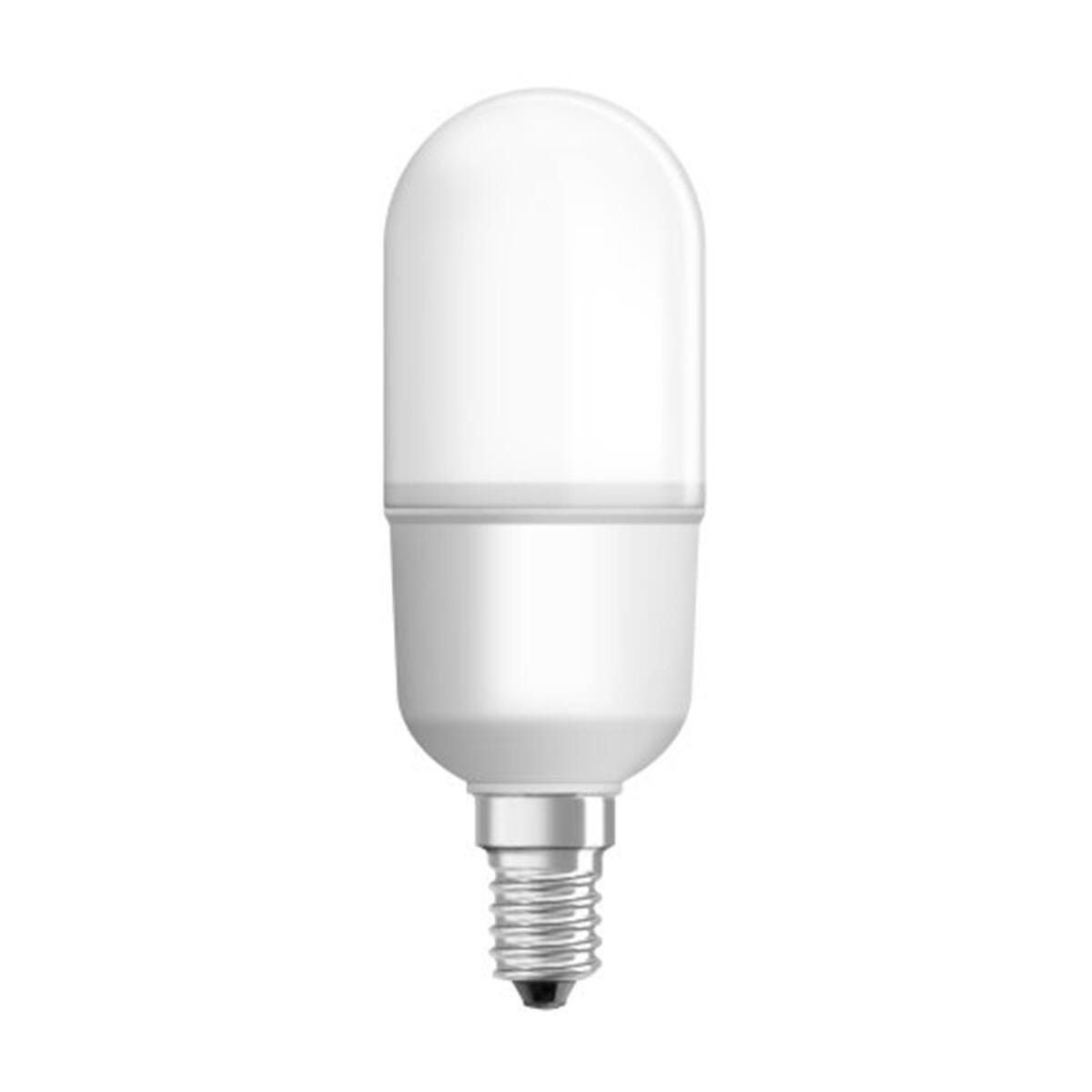 Lampadina LED, E14, Bulbo, Opaco, Luce calda, 10W=1050LM (equiv 75 W), 200° , OSRAM - 1