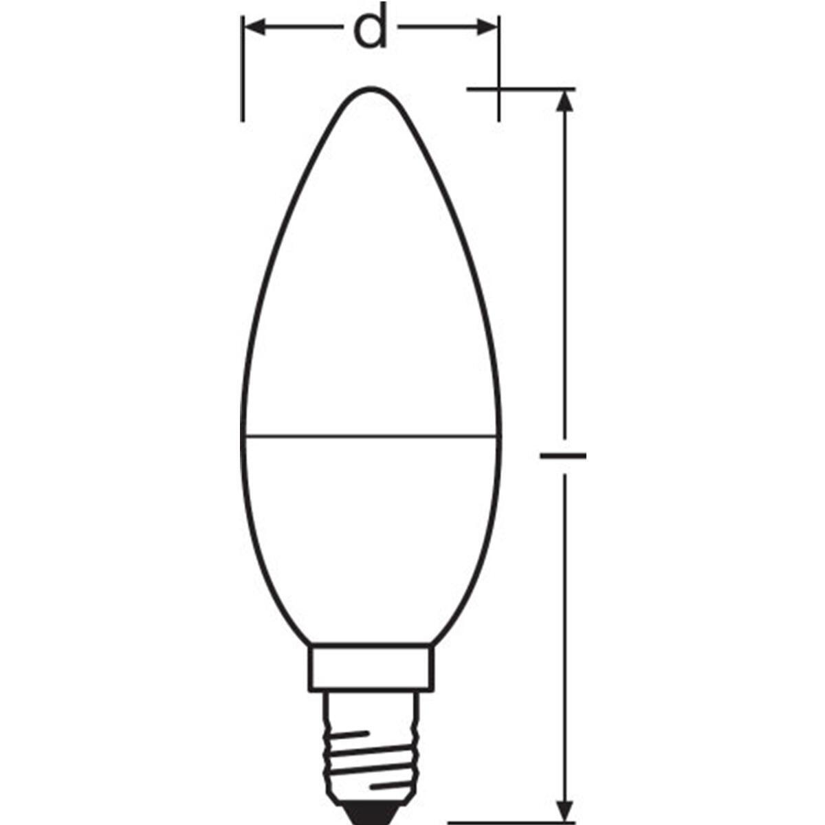 Lampadina LED, E14, Oliva, Opaco, Luce calda, 8W=806LM (equiv 60 W), 200° , OSRAM - 2