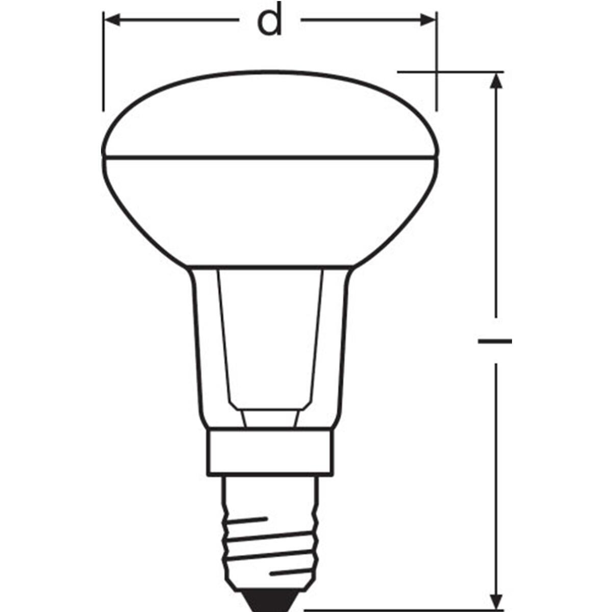 Lampadina LED, E14, Faretto, Trasparente, Luce calda, 1.5W=110LM (equiv 25 W), 36° , OSRAM - 5