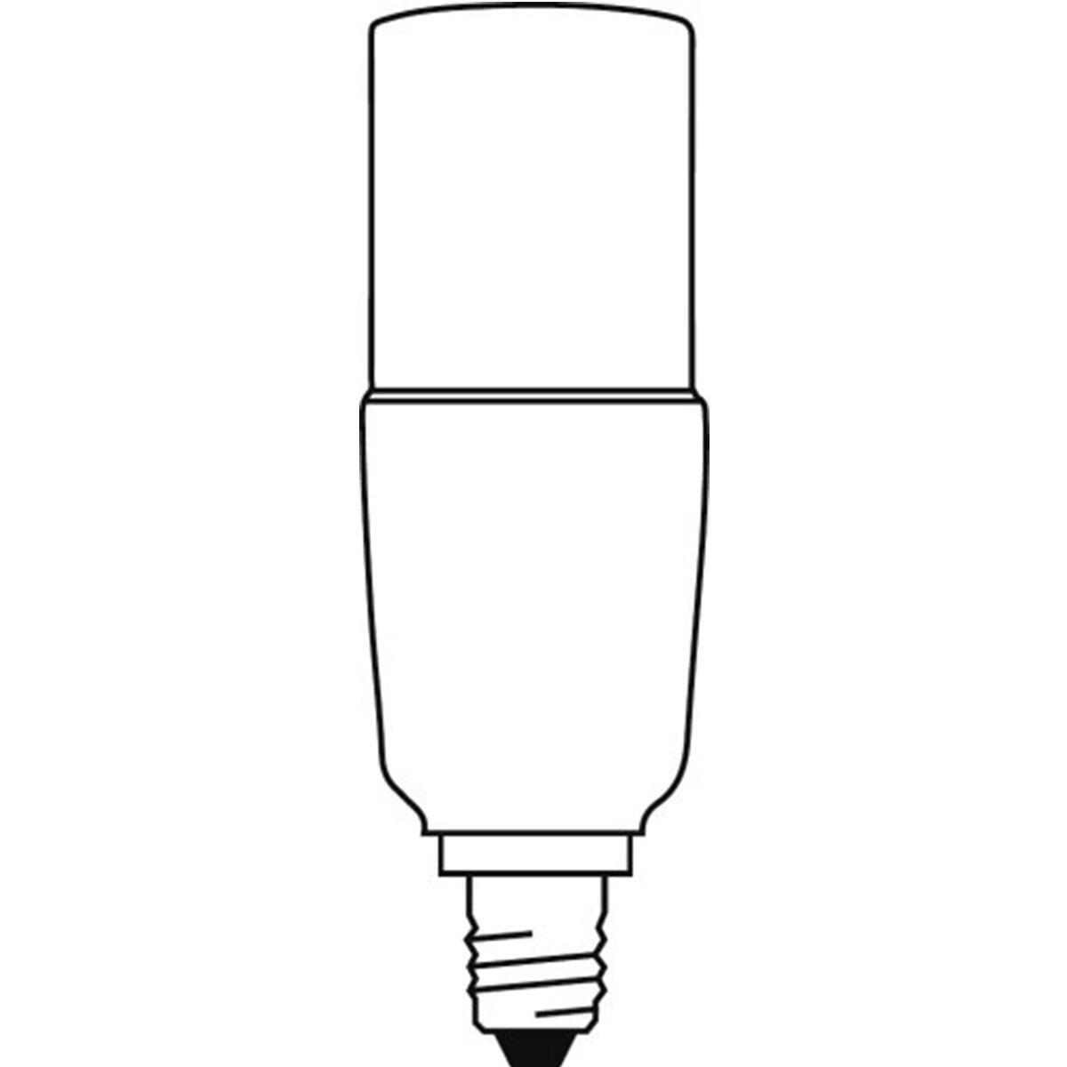 Lampadina LED, E14, Bulbo, Opaco, Luce calda, 8W=806LM (equiv 60 W), 200° , OSRAM - 7