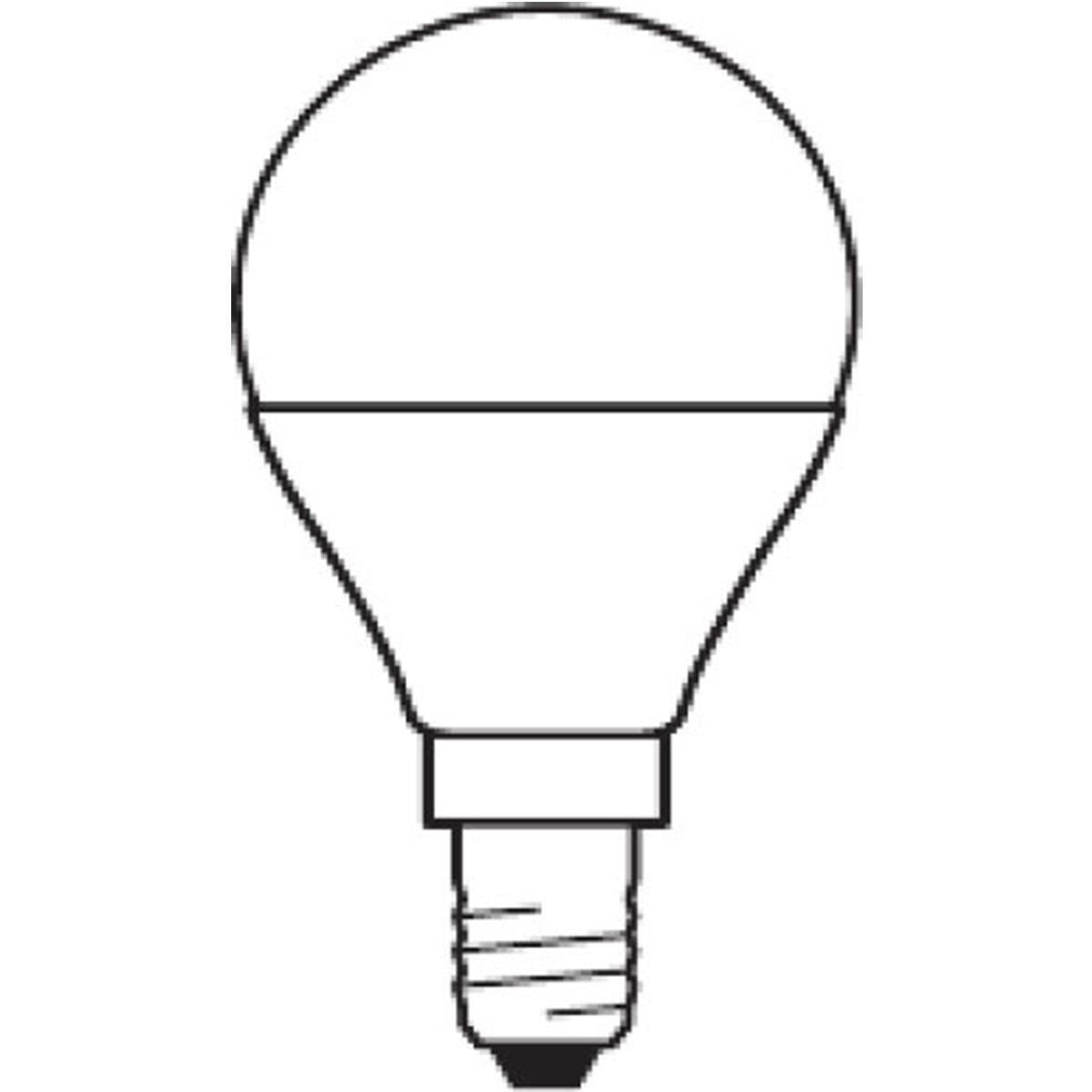 Lampadina LED, E14, Sferico, Opaco, Luce calda, 3W=250LM (equiv 25 W), 180° , OSRAM - 3