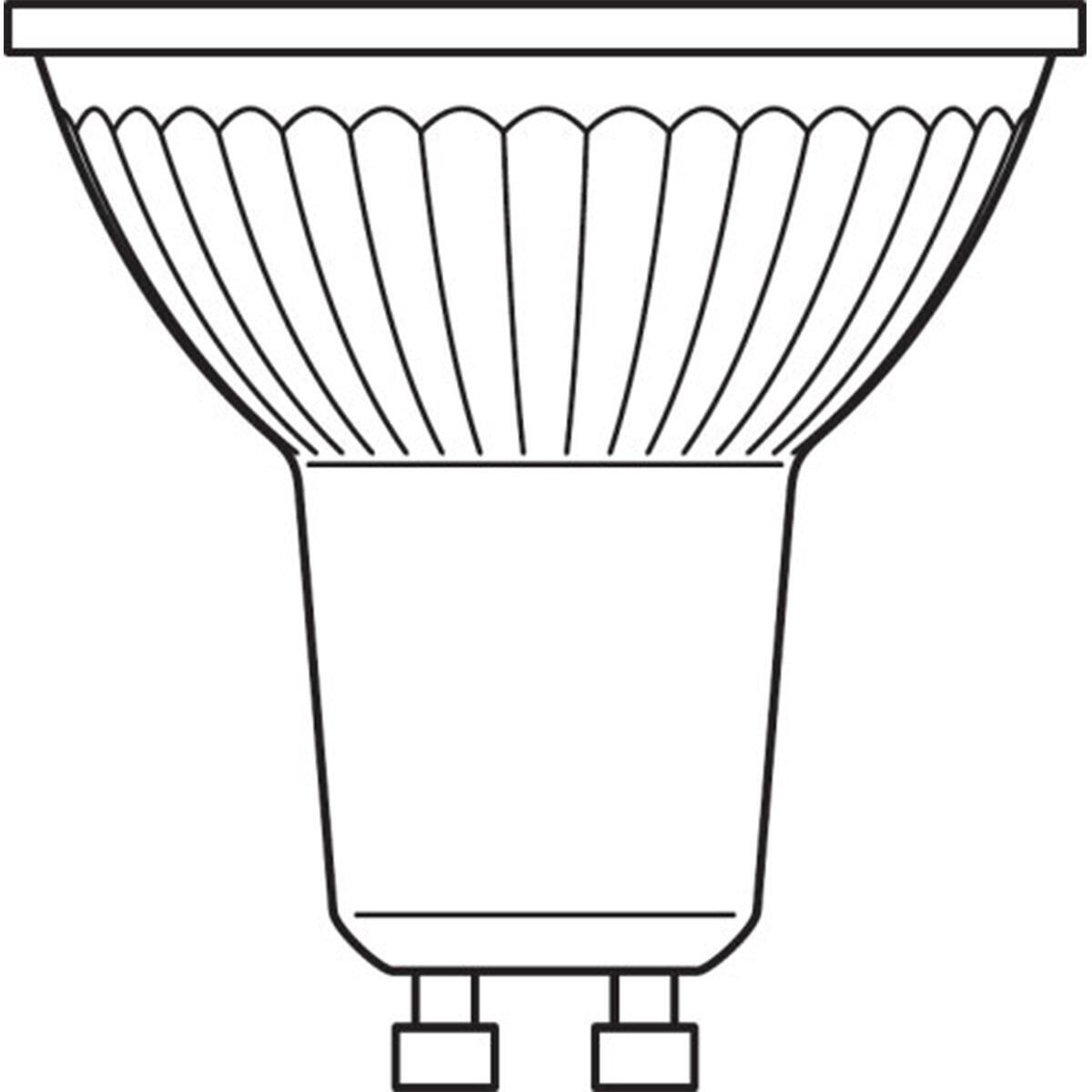 Lampadina LED, GU10, Faretto, Trasparente, Luce calda, 4.3W=350LM (equiv 50 W), 36° , OSRAM - 6